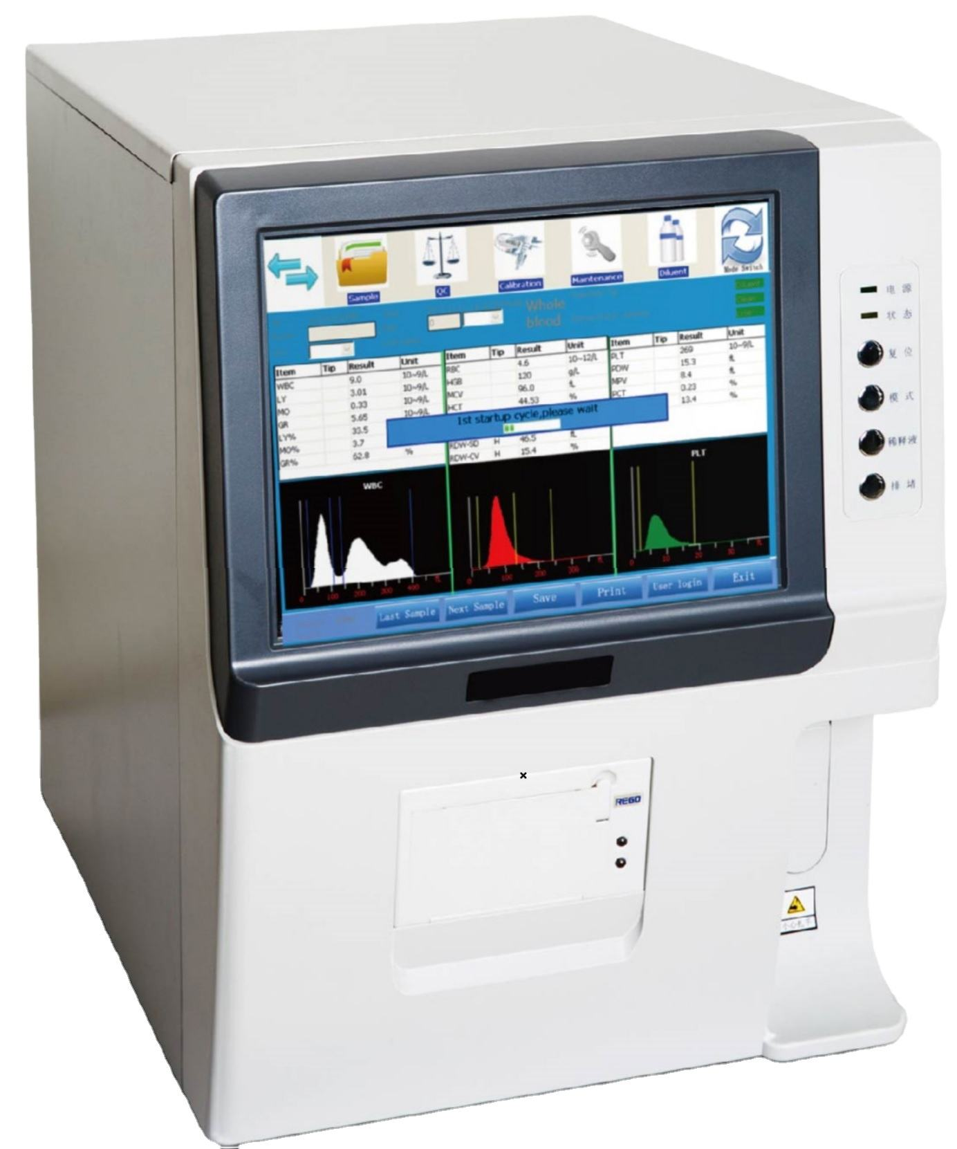 High Quality HMA-7218 Hematology Analyzer medonic hematology analyzer auto hematology analyzer price