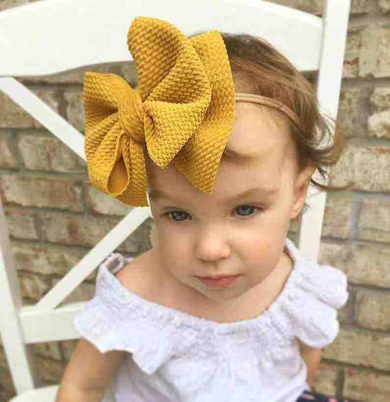 new wholesale custom newborn infant baby headband bow trimmed knot baby swaddle with headband