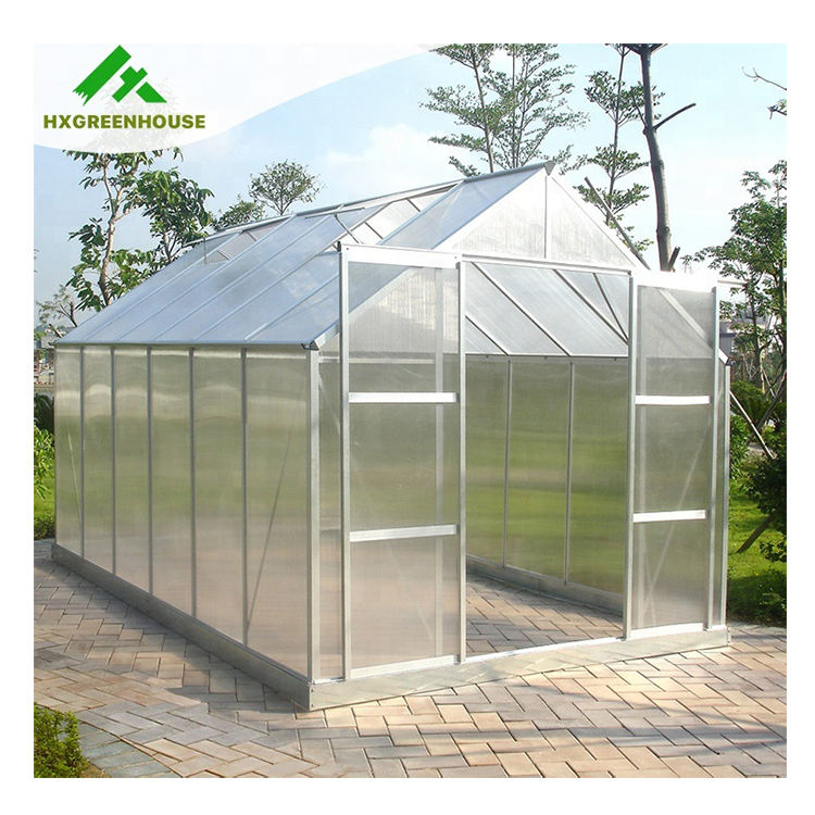 UV protection grow flowers hobby gardeners polycarbonate greenhouse structure for sale HX65126-1