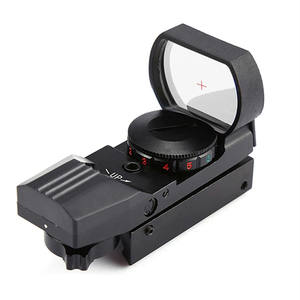 11/20 Mm Rail Riflescope Red Dot Sight Refleks 4 Reticle Hologram Taktis Lingkup Collimator Optical Sight Berburu Airsoft