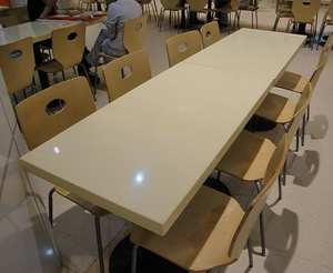 Best factory fabricator restaurant 12mm corians table top price