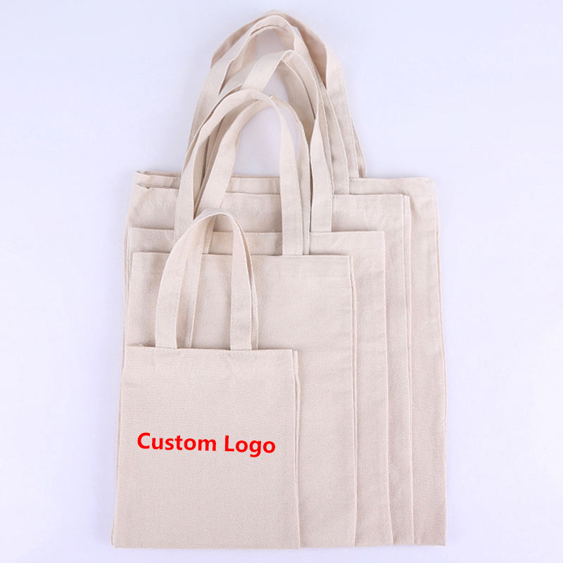 NBCU Audit Factory Custom Free Sample Low Price Small Cotton Canvas Tote Shopping Bag with Company Logo Print