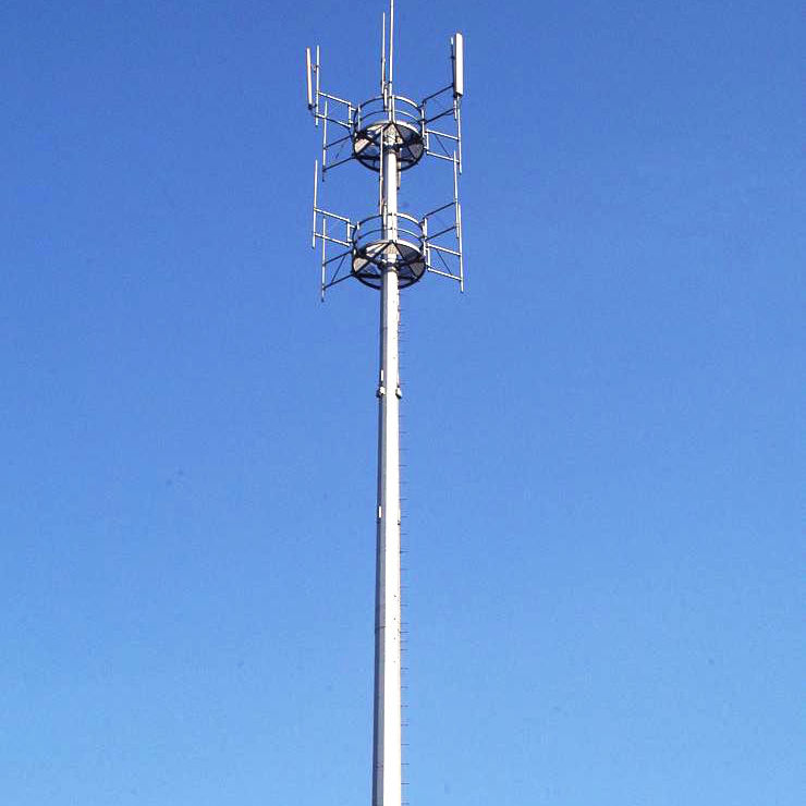 High Quality Galvanized Monopole Mobile Communication Tower