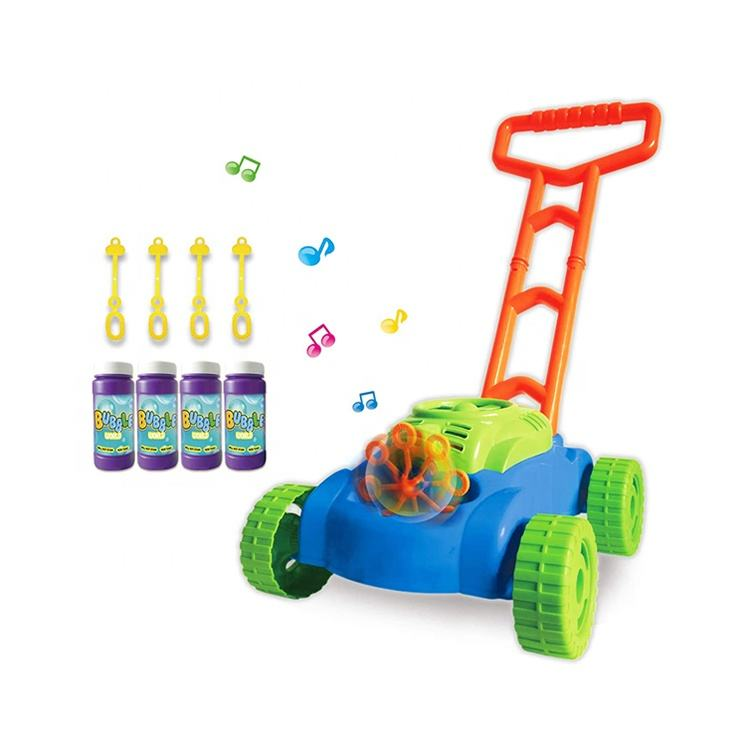 ON SALE!!! Electric Bubble Car Machine Maker Lawn Mower Automatic Bubble Toys with Music Sounds