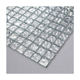 20x20mm Hight quality affordable price textured silver foil glass mosaic tile for shower room wall decor