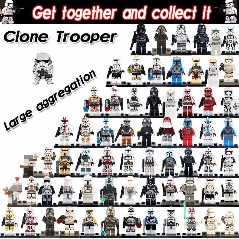 Hot Sale Stormtrooper Clone Scout Trooper Imperial Clone Trooper Wars Movie Action Collection Building Blocks For Children Toys