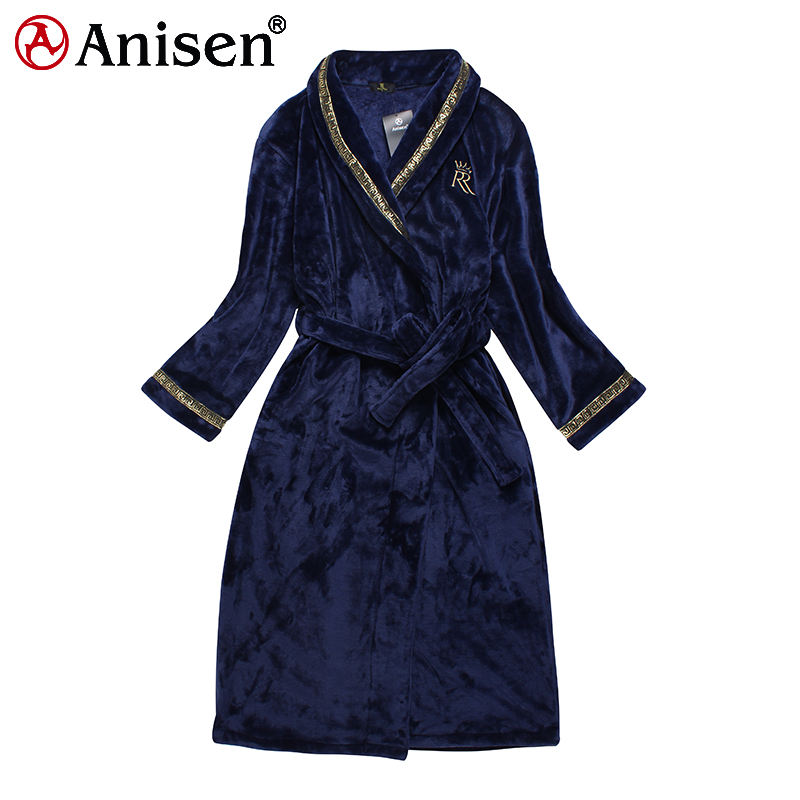 2020 Men Custom Logo Sleepwear Pajama Onesie Robes Nightwear Flannel Fleece Embroidery Hotel Bathrobe Pajamas