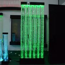 custom indoor decorative water bubble water wall for aquarium led water curtain