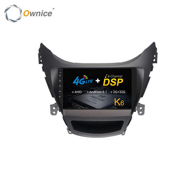 Ownice Radio DAB + Bluetooth Voiture Lecteur DVD Apple Carplay Pour Hyundai Elantra <span class=keywords><strong>2012</strong></span> 2013 2014