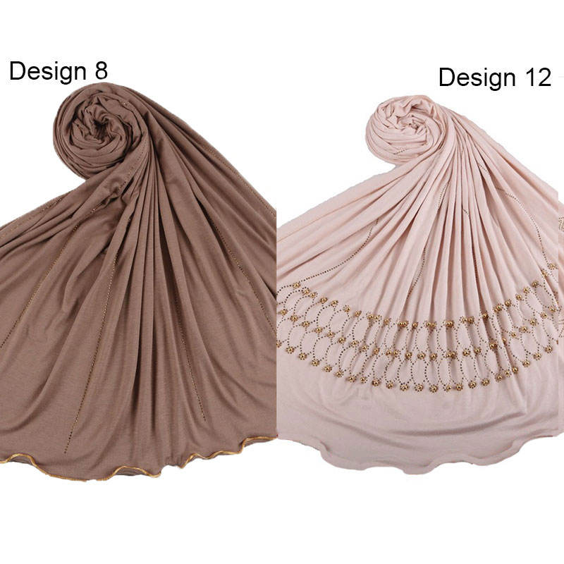 Newest 185*85 cm Diamond Cotton Jersey Scarf Soft Material Long Shawl Wraps Solid Color Trendy women Hijab Scarf