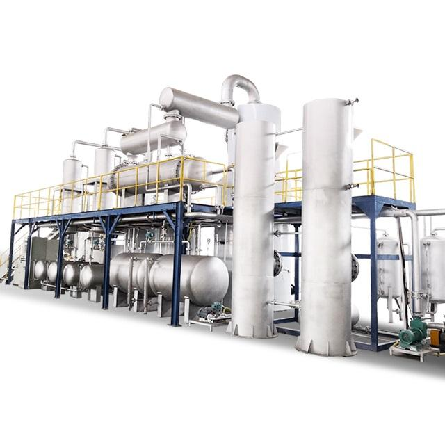 Double Benefit Waste Engine Oil Recycling Distillation To Water Color Euro 4 Diesel Machine