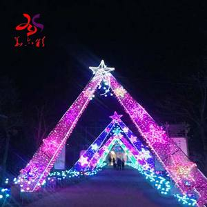 2020 new products wedding souvenir led sculpture Christmas motif Halloween pole street arch lights amusement festival decoration