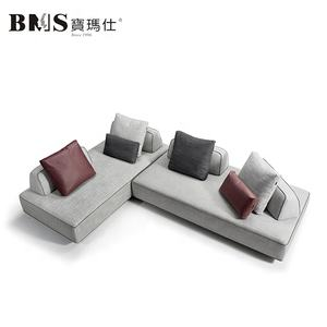 BMS uniqure design modern fabric couch L shape corner sofa set living room modern furniture sectional sofa sleeper sofa