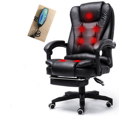 High Back pc Chair with 7 Point Massage Swivel Computer Desk Chair Executive Office Chair