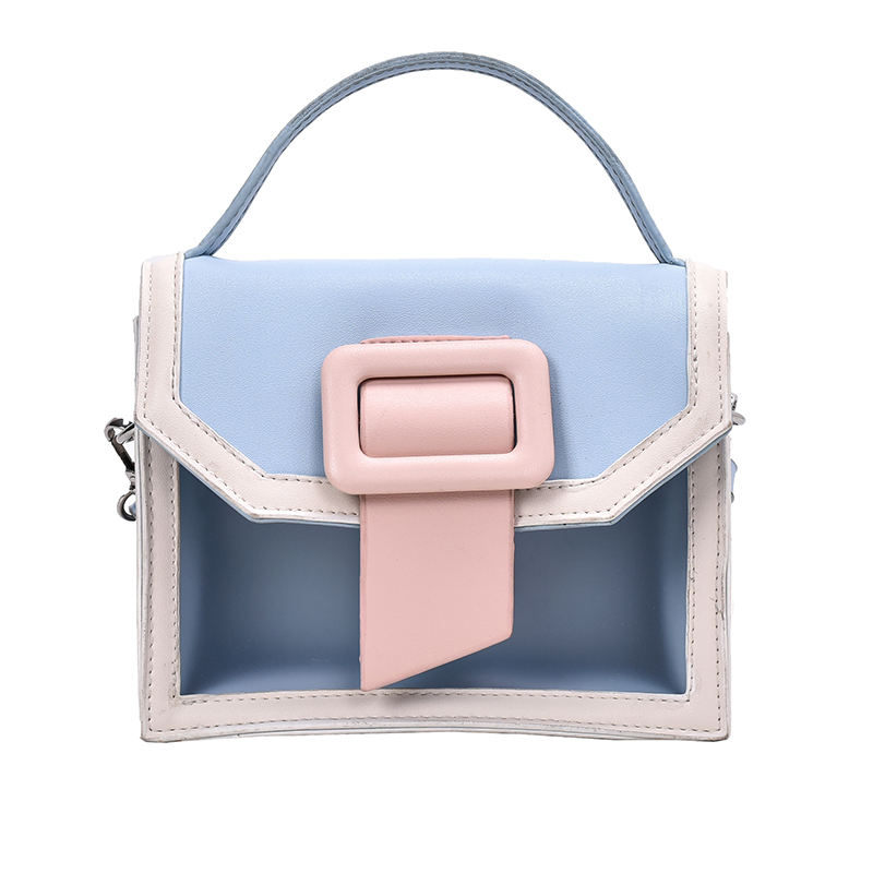 Shopping Sling Girls Handle Snap Button Plastic Clear Crossbody Shoulder Bag
