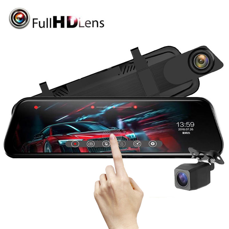 Wholesale 9.66Inch Android Car DVR 1080P Video Camera GPS Navigation ADAS Full HD Camcorder Bluetooth WiFi Dual lens Dashcam