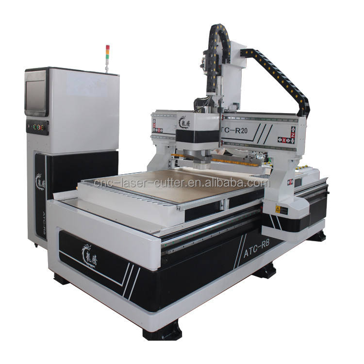 Factory cost 4*8ft wood stair cutting auto tool change cnc router machine in furniture