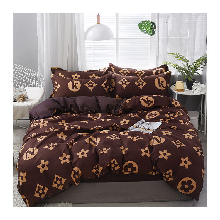 Fashion Luxury Design Printed Bedding Set Polyester Microfiber Duvet Cover African Print