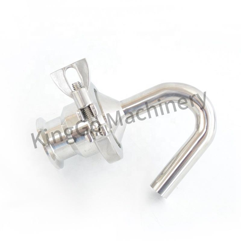 1 Inch Clamp Fittings Stainless Steel SS304 Sanitary Exhaust Valve Safety Pressure Valve In-line Relief Valve