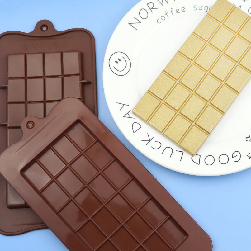 201 STOCK silicone chocolate mould with waffle shape, large hole size cookie diy mould ,reusable washing soap mold trays