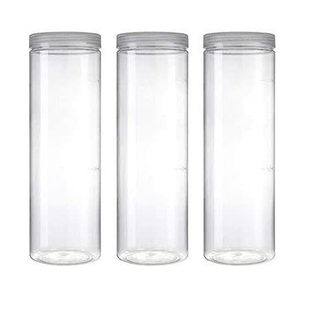Kitchen containers Clear Plastic Dry Food Storage Containers with Lids