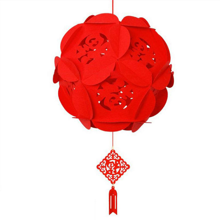 Fu Character 2020 Chinese New Year Red Lantern Hanging Lanterns Decoration for Chinese Spring Festival and Celebration