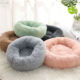 Accessories Dog Manufacture Pet Accessories Cat Washable Large Donut Round Plush Sofa Dog Luxury Rest Improved Sleep Faux Fur Dog Bed