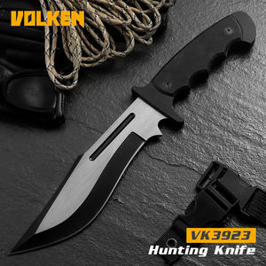 Outdoor camping straight knife fixed blade knife with G10 non-slip handle outdoor safety knife