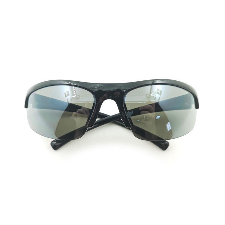 Black sports glasses protect the eyes half-frame glasses can be used for swimming