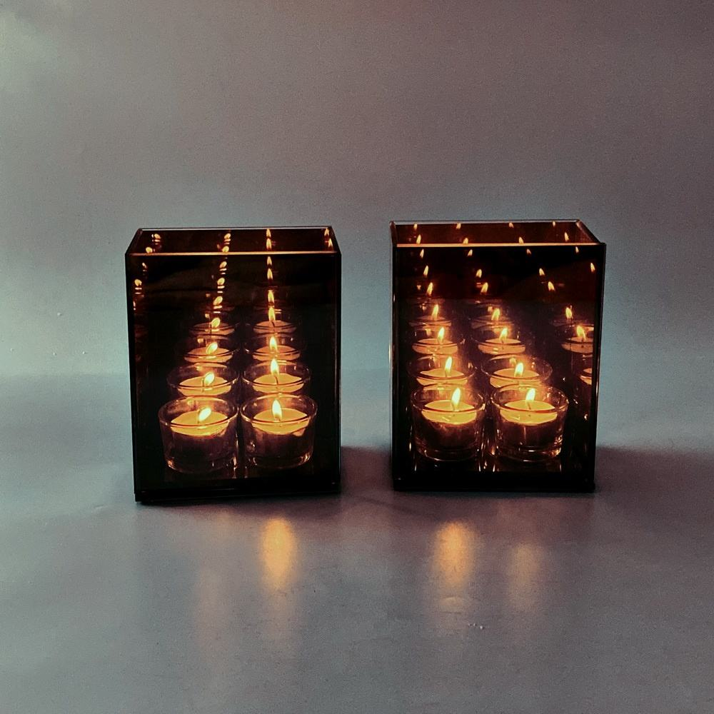 ready to ship wholesale infiniti infinity mirror tealight candle box for wholesale