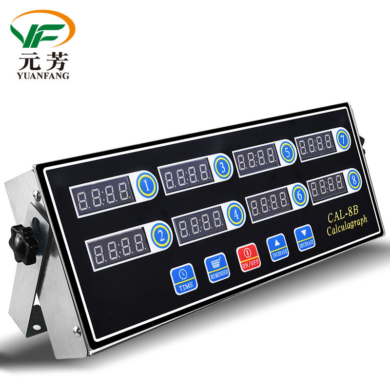 High Quality Electrical 8 Channel Key Commercial Easy Operation Digital Kitchen Timer