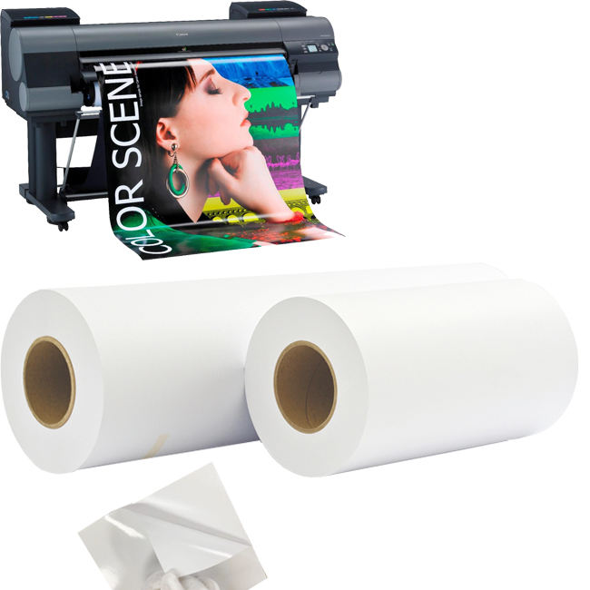 Factory Large Format Self-adhesive RC Glossy sticker Photo Paper Rolls for art printing