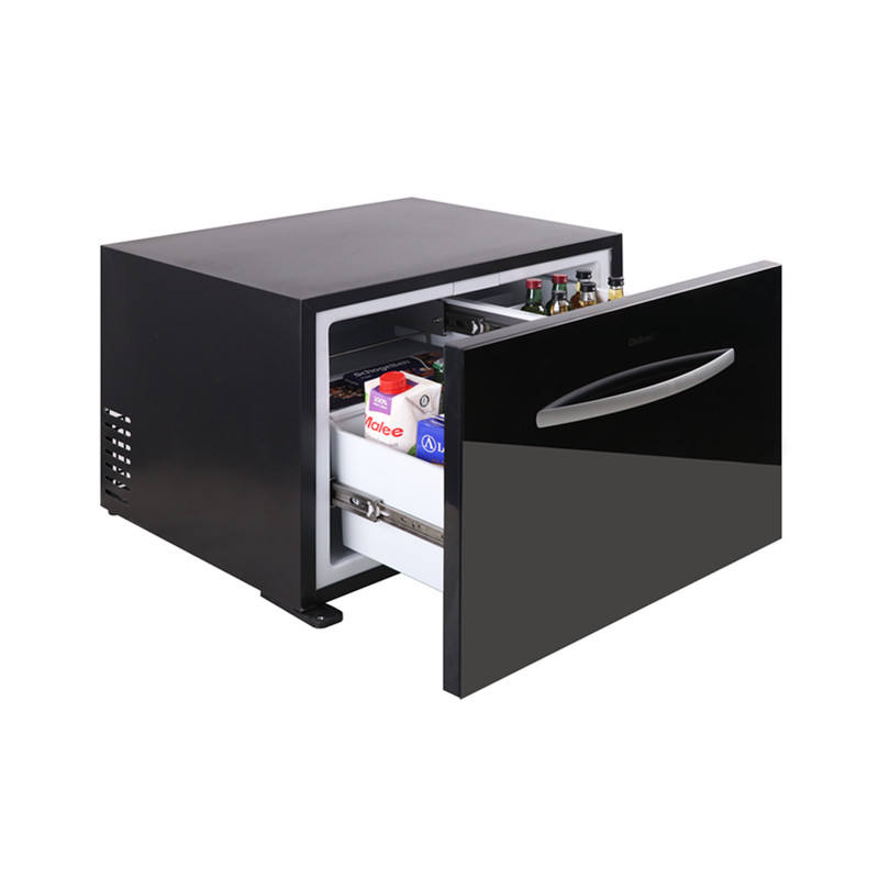 Proprietary electronic temp control absorption column Minibar Powered by Absorption