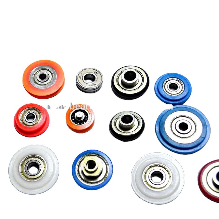 608 Nylon Pulley with Bearings Sliding Door Roller Pulley Small Ball Bearing Wheel