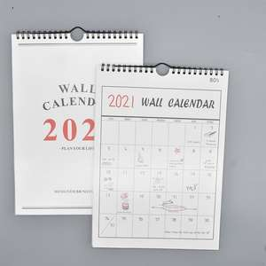 2021 Spiral Calendar Monthly Paper Printing Customizable Full Year Weekly Wall Calendars