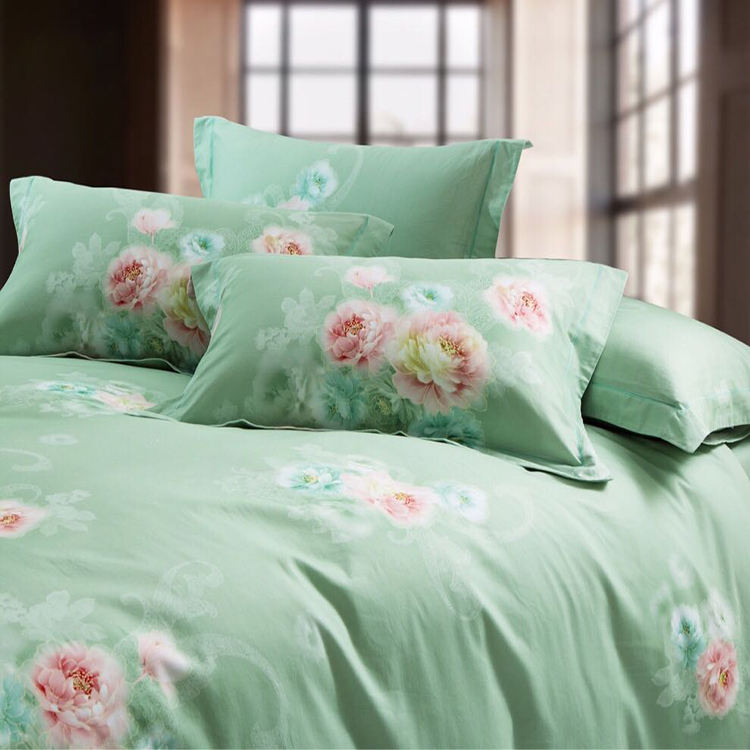 Moonlight Blue Ice Dicelup Merah Anggur Dolphin Printed Bedding Set