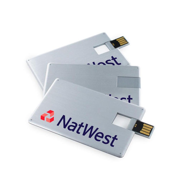 Aluminum Rotary Card U Disk Metallic Card USB Stick business credit card USB flash drive