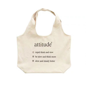 Customized Wholesale Korean Simple Large Capacity Canvas Bag Single Shoulder Literary Canvas Bag