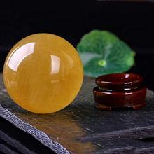 Natural Citrine Crystal Sphere Ball for Wealth and Success