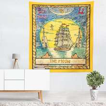 amazon custom made Star Moon Tarot Tapestry 3D Printed Custom Tapestry Wall Hangings