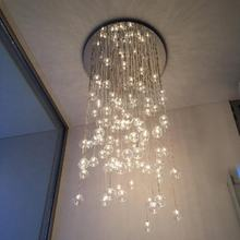 Clear glass bubbles balls chandelier round ceiling base