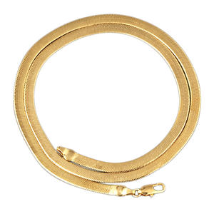 16 18 Inch Gold Plated Necklace 8mm Womens Silver gold plated Herringbone Chain