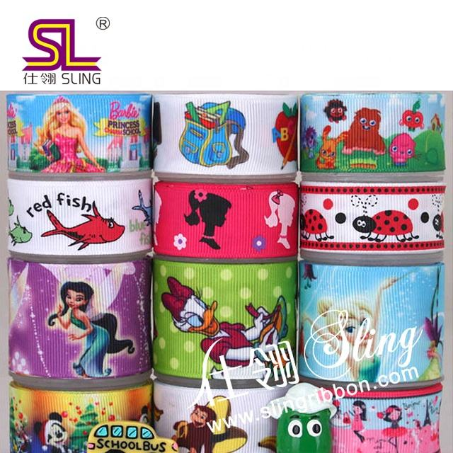 Factory High Quality Fashion Cheap Wholesale Princess Printed Ribbon