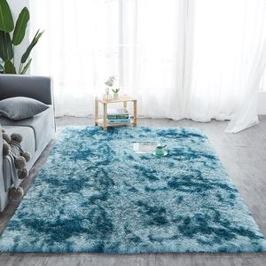 100% polyester moderne design minimaliste blanc chambre shaggy tapis