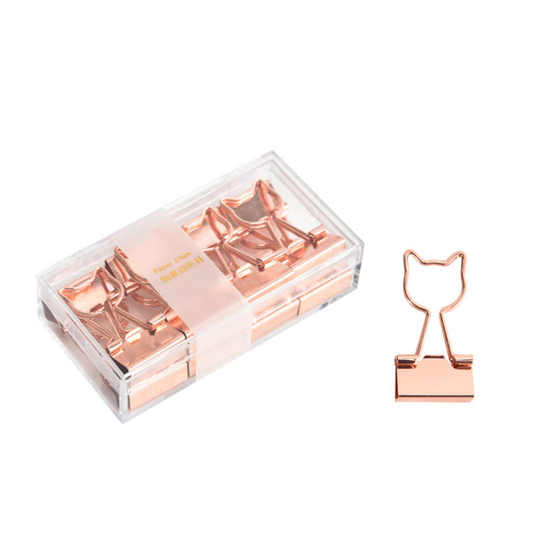 Promotional Metal Rose Gold Cheap Heart Shape File Binder Paper Clip For Office