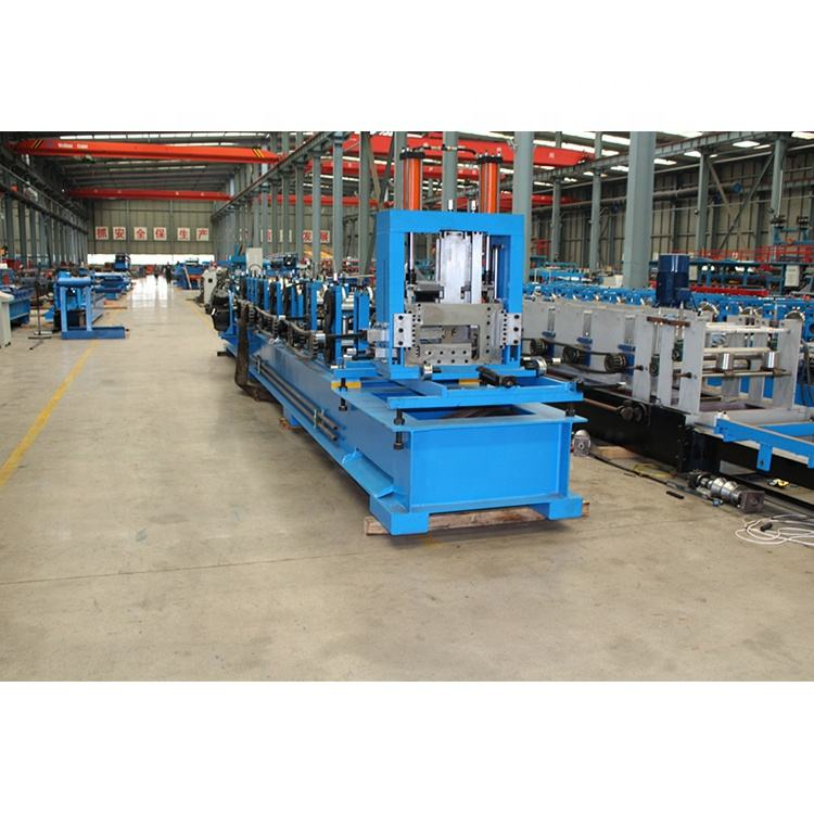 Galvanised Roof Truss Making Equipment C Section Steel Purlin Roll Forming Machine