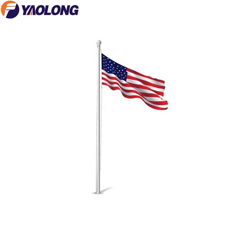 Nylon [ Garden Flag ] Aluminium Pole Flags 6m Aluminum Spun Decorative Garden Flag Pole Foundation Design