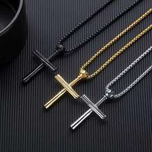 Fashion And  Popular Baseball Cross Pendant Necklace Suit for man and woman