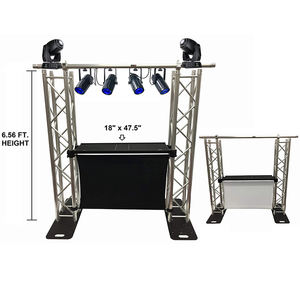 DJ Event Facade White/Black Scrims Aluminum Truss Booth 6.56' Arch truss System Detachable Table And Facade