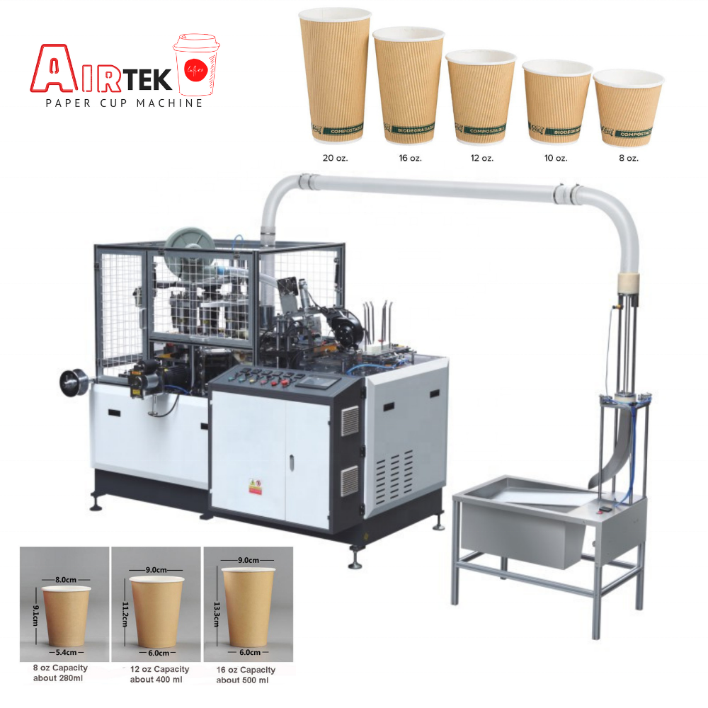 High Speed Ultrasonic Fully Automatic Disposable Coffee Tea Paper Cup Making Machine